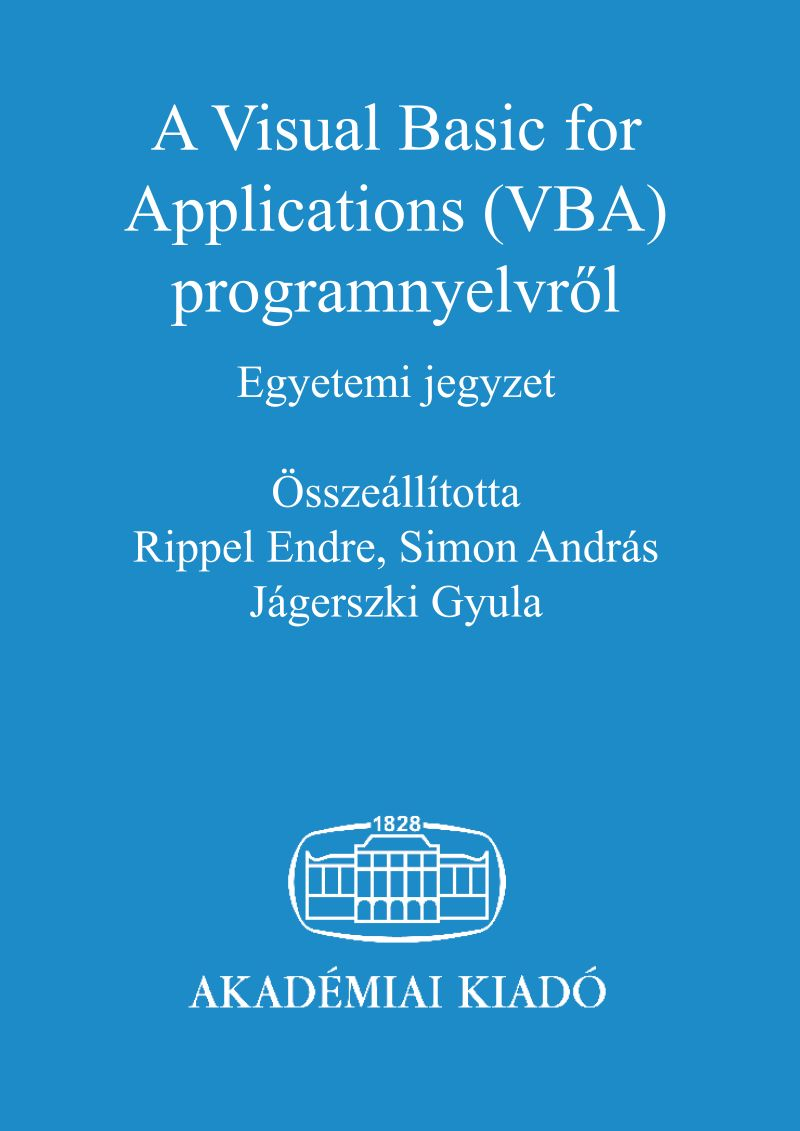 A Visual Basic for Applications (VBA) programnyelvről